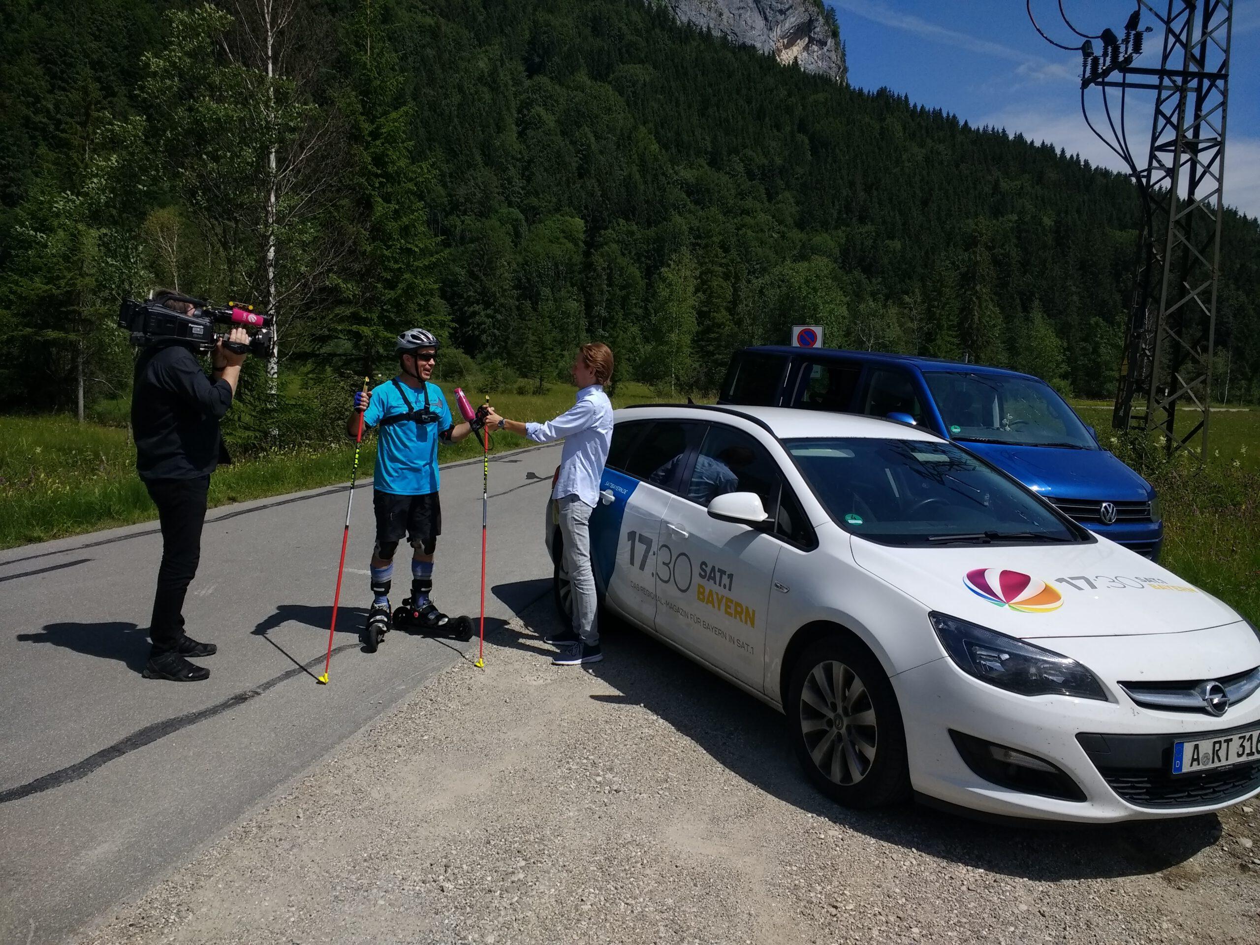 SAT1 Reportage zum Training in Oberammergau