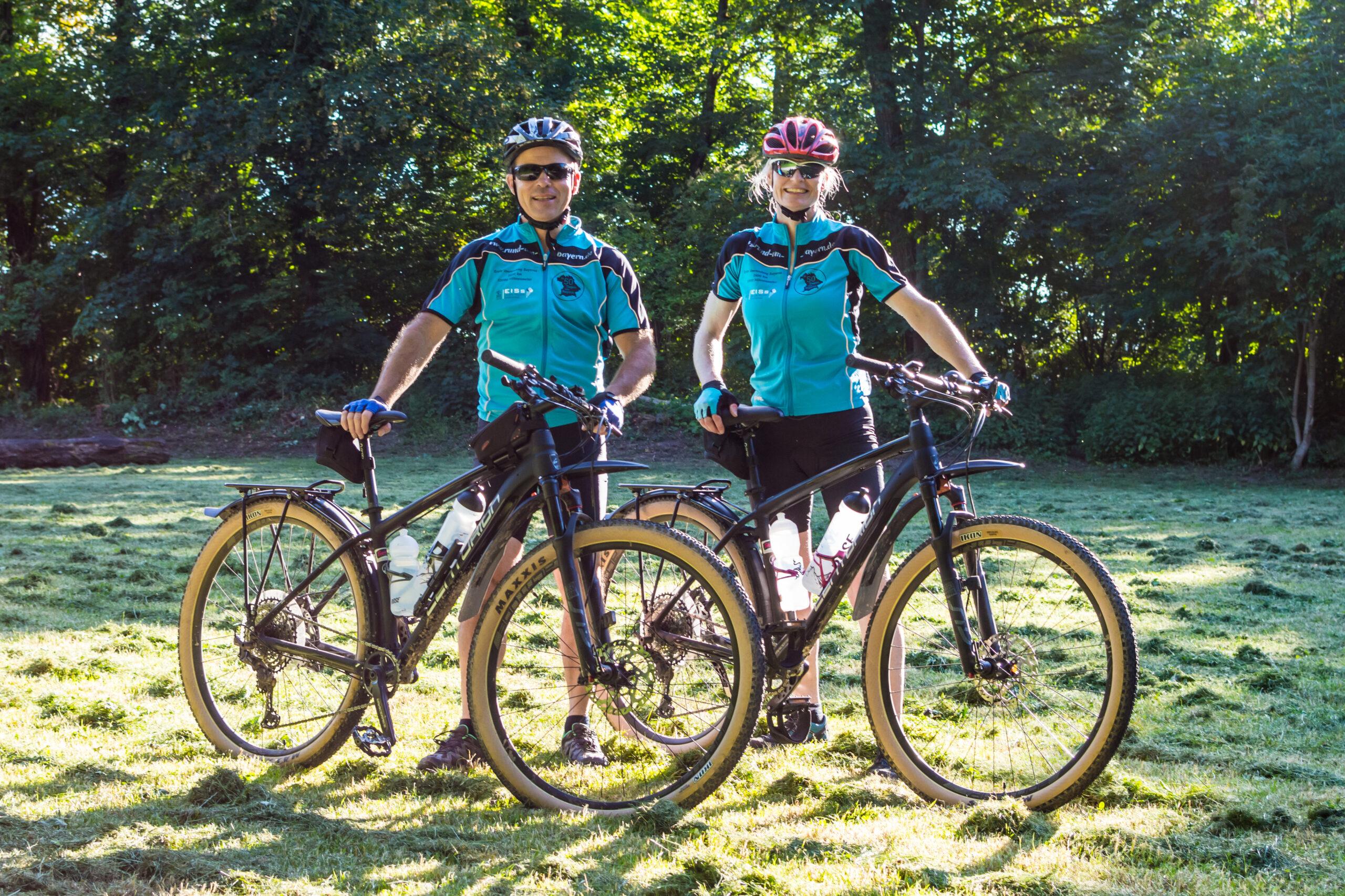 Ute Jansen und Markus Frommlet vorm Start